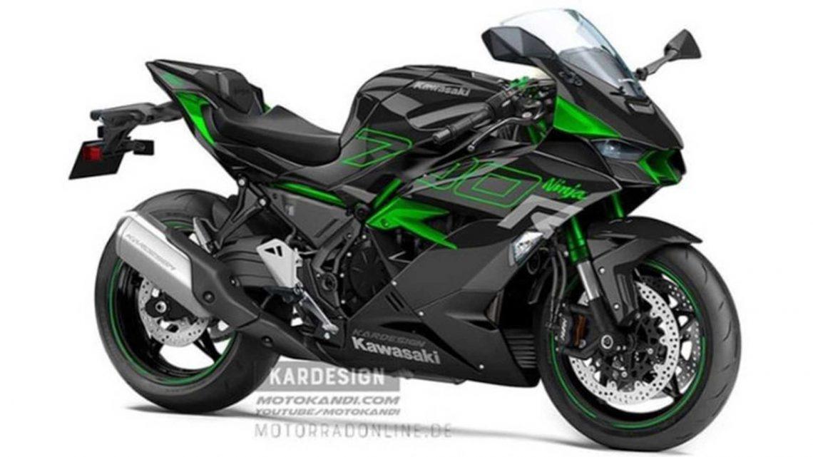 So könnte ein Kawasaki Ninja 700R Motorrad aussehen.