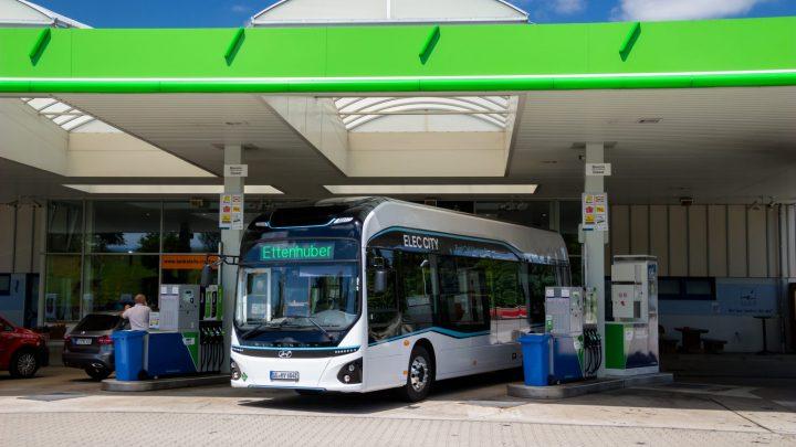 Hyundai testet den ELEC CITY Brennstoffzellenbus in München.