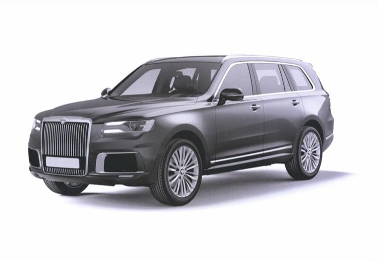 Das Luxus-SUV Aurus Komendant bekommt Elektro- und Wasserstoffantrieb.
